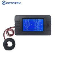 Dijital Voltmetre Ampermetre AC 80 ~ 260 V 100A Akım Gerilim Ölçer Volt Amp Tester Enerji Frekansı Güç Faktörü Dedektörü