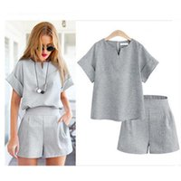 Two Pieces Summer Sets for Women 2019 Fashion Vintage Casual...