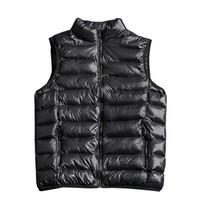 2020 nuovo colore solido di modo degli uomini senza maniche Giacca Casual maglia di inverno Maschio Slim Vest Mens antivento Warm Gilet 4XL 5XL