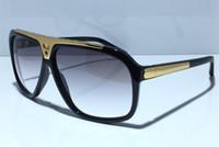 أزياء الرجال النظارات الشمسية 2019 نسخة مطورة Z0350W مليونير سلسلة المصمم الشهير فاخر الإطار لامعة الذهب مع صندوق
