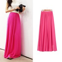 Sherhure 2019 Summer Women Maxi Skirt Two Layer Boho High Wa...