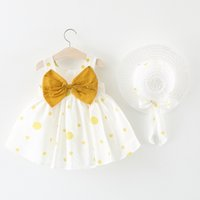 Casual Summer Baby Girl Dress Cotton Print Bow Floral Bow Infant Girl Dresses Toddler Baby Girl Vêtements