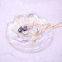 Mermaid Shell Glasschale Laser Schmuck Platte Dekoration Aufstellung Prop Platte Mode Kosmetik Lagerung Dish Schönheit Werkzeug HHA-319