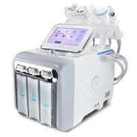 6 في 1 الهيدروجين الأكسجين هيدرا الجلد قشر معدات الوجه H2O2 آلة فقاعة الجمال الصغيرة