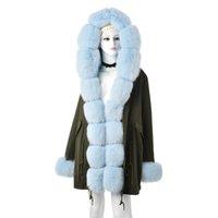 Kürk Ceket Lüks Casual Parka Outwear bule Tatyana Furclub Yeni Moda Parkas ile Natürel Yaka Kalın Sıcak Coat