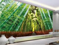 Sondergröße 3d Fototapete Wohnzimmer Schlafzimmer Wandbild Fantasie Bambus Wald Landschaft Bild Sofa TV Hintergrund Tapete Vlies Aufkleber