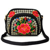Ethnic Style Handbag Crossbody Bag Embroidery Personality Ca...