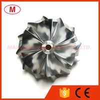 K04 54,20 / 66.56mm 6 + 6 lames Forward Turbo billettes roue de compresseur / aluminium 2618 / roue de fraisage pour Turbocompresseur cartouche / LCDP / Core