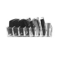 Praktische Plexiglas Makeup Anordnung Aufbewahrungsbehälter Lippenstift-Halter Transparente Multi-Slots Desktop-Cosmetic Organizer
