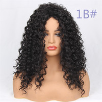 New Style Wig Lace Frontal Kinky Curly Synthetic Wigs Pure C...