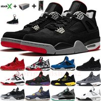 New Bred Black Cat 4 basketball shoes Nike Air Max Vapor Jordan 4s men mens white cement encore wings fire red singles designer sneakers IV Pure money trainers