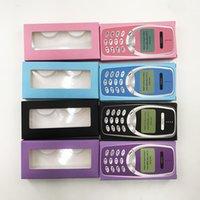 Box ambalaj kutusu 3D 5D 25mm Vizon Kirpikleri Özel Private Label Packaging Yeni Geliş Telefon Kağıt Kirpik