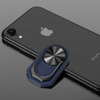 Универсальный магнитный телефон держателя кольца Стенд Finger Kickstand 360 ° Вращение Металлическое кольцо рукоятки для iPhone 11 Pro Max аксессуары