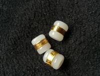Altın kakma yeşim ve Tian Yu Yolu Yol DIY gevşek boncuk M1 Kargo ücretsiz kolye beyaz yeşim transferi boncuklar geçmesi