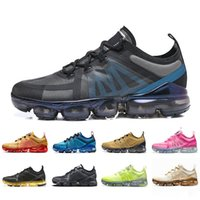 2019 Cushion Run Utility Men Running Shoes Negro Antracita Reflect Silver Respirable Mujeres Diseñador Zapato Zapatillas de deporte Zapatillas de deporte Tamaño 36-45