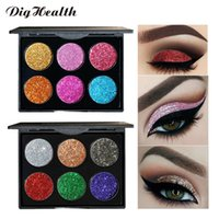 Dighealth 6 Color Glitter Lidschatten-Palette Golden Sequins Professional Make-up Lidschatten-Palette Kosmetik