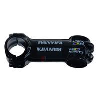 Carbono haste 31,8 milímetros estrada / fibra de carbono MTB 3K Gloss Hastes moto peças 70/80/90/100/110 Caule bicicleta