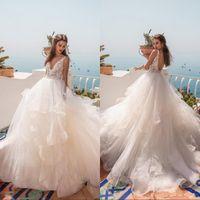 2019 невесты свадебные платья линия V шеи сексуальная открытая задняя свадебные платья плюс размер беременных