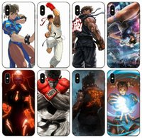 iPhone [TongTrade] Street Fighter Game Art capa para 11 Pro Max X XR XS 8 7 6s 5 Plus Samsung núcleo 8262 Prime Huawei Y7 redmi Nota 8 Pro caso