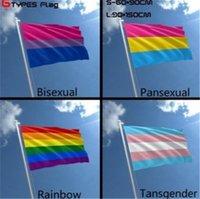 90 * 150cm del arco iris de la bandera del arco iris del orgullo gay Bandera Bandera 100% poliéster con dos ojales de metal asta de bandera LGBT envío libre
