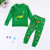 2019 ultime collezioni per bambini della ragazza del neonato capretto 100% cotone dinosauro del fumetto Pajamas Sleepwear Set da notte Homewear Outfit 1-7T