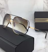 상자에서 남성 자정 특별 선글라스 금 / 브라운 음영 Sonnenbrille 빈티지 운전 태양 안경 패션 선글라스 새로운