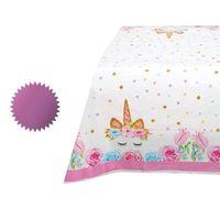 Tovaglia unicorno Forniture per feste di compleanno impermeabili Tavolo Decorate Modello colorato Plastica One Time Rosa caldo Vendite Pratico 3 7ssC1