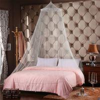 Elegante zanzariera per tende da letto matrimoniale Tenda a baldacchino tondo in poliestere a rete a nido d'ape