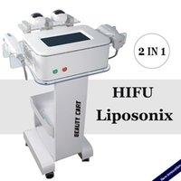 Yüksek frekansın HIFU makine kırışıklık giderme 3 kartuşları 1.5mm 3.0mm 4.5mm HIFU liposonix makine spa salonu ev kullanımı