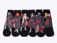 Yeni Moda yetişkin adam of 6 adet Pamuk Çorap Anime Naruto Ayak Bileği Rahat Elbise Çorap