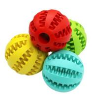 Juguete para perro de mascotas Juguete con bola de goma Funning Light Verde ABS Juguetes para mascotas Pelota para perros Juguetes para masticar Limpieza de dientes Bolas de comida 4.8 cm