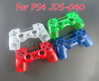 Transparente Crystal Clear Frente Housing Shell Case Capa Faceplate para Playstation 4 Pro PS4 Pro JDM 040 JDS 040 Controlador