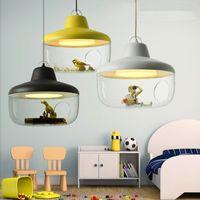 Cartoon Mediterranean LED Modern Illuminazione Lampadari Lampadari per Bambino LED Lampadario a LED Soffitto Bambini 110 V 220V LED Lampadario
