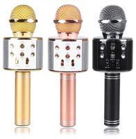 WS858 Microphone sans fil HiFi Speakerbleutooth Condenseur Magic Karaoké Microoke Téléphone Lecteur Téléphone Mic Speaker Enregistrer Musique pour iPhone Android