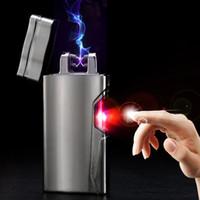 Laser induzierte Plasma Doppelbogenelektro USB aufladbare Zigarettenanzünder windproof empfindliche Infrarot-Netzschalter Bestnote A0036