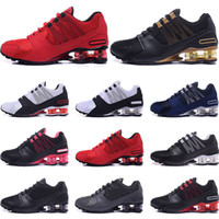 Designer Shoes R4 NZ Mens Womens Running shoes black red gol...
