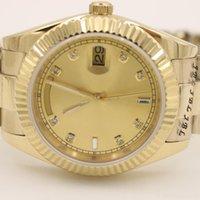 2018 brand watch Day-Date Champagne Dial 18K Yellow Gold President daydate Automatic watches men sapphire glass men dress wristwatch003