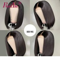 Short Human Hair Lace Front Bob Wigs With Baby Hair Raw Indi...