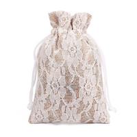 50/Лот 8*10 см кружева белье подарочная сумка пылезащитный небольшой джутовый мешок ювелирные изделия кольцо ожерелье конфеты шнурок мешок бамбука уголь для хранения упаковки