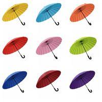 24 Osso Bend Handle Umbrella Floração Ensolarado Reforço À Prova de Vento Guarda-chuva Criativo Encontro Água Floração Umbrella TTA838
