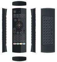 10pcs MX3 X8 T3 rétroéclairé sans microphone mini 2.4GHz sans fil gyroscope clavier air souris à distance G-capteur pour Android TV BOX dongle