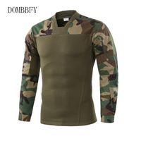 Мужские Tactical футболки Прочный штурмовой Slim Fit Combat Army дышащий Футболки Повседневная работа Грузовой Hike Shoot Tops Tee