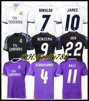 2016 2017 Real Madrid Futbol Forması Retro Ronaldo Benzema Futbol Gömlek 14 15 16 17 18 James Camiseta De Fútbol Sergio Ramos Bale Maillot