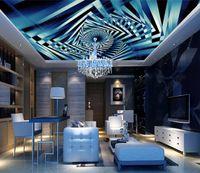 Benutzerdefinierte 3D-Decke Diamant ray Fototapete Wohnzimmer Schlafzimmer Nicht gewebte Wandtapete Deckentapete