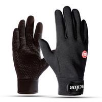 Outdoor-Sport-Ski-Handschuhe wärmen im Freien Reithandschuhe warme Skihandschuhe aus Fleece und wind Anti-Rutsch-Touchscreen