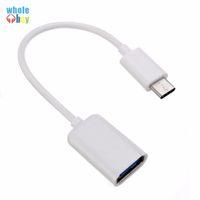 Новый тип C OTG кабель адаптера USB 3.1 Type-C Парнем в USB 2.0 Женский OTG кабель для передачи данных шнура адаптер белый / черный 16.5cm