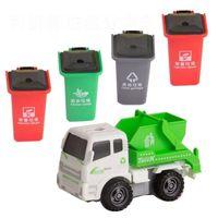 البلاستيك صناديق النفايات القلم صندوق القمامة تعلم لعبة علب القمامة شاحنة مع غطاء القرطاسية حامل القمامة القمامة والصرف الصحي شاحنة