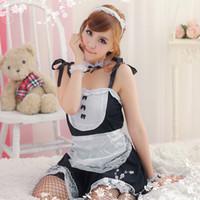 Sexy Kostüme Dessous Cosplay Erotische Schürze Maid Kostüm Babydoll Kleid Frauen Lace Outfit Uniform