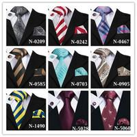 Mens Slips Hög Qulity 9 Stil Stripe 100% Silk Handkerchief Weeding Party Business Tie Pocket Square Manschettknappar Gratis frakt SN-7074