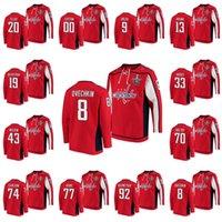 Washington Capitals 2020 Stanley Cup Playoffs Jersey Alexander Ovechkin T. J. Oshie Tom Wilson John Carlson Lars Eller Radko Gudas à capuche